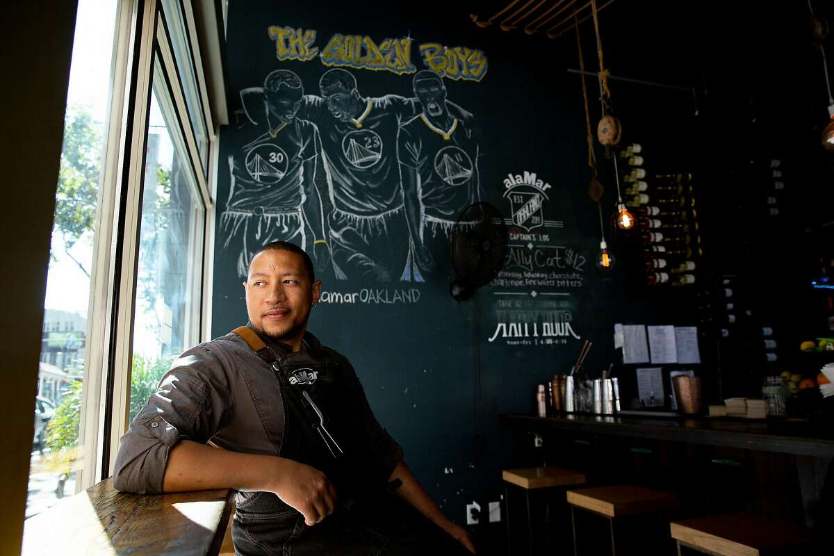 Chef Nelson German at alaMar Kitchen & Bar, Thursday, July 18, 2019, in Oakland, Calif.