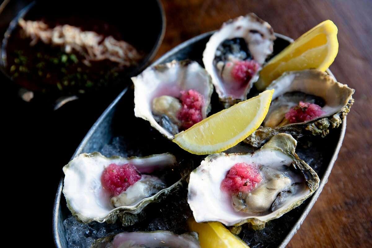 The oysters at alaMar Kitchen & Bar, Thursday, July 18, 2019, in Oakland, Calif.