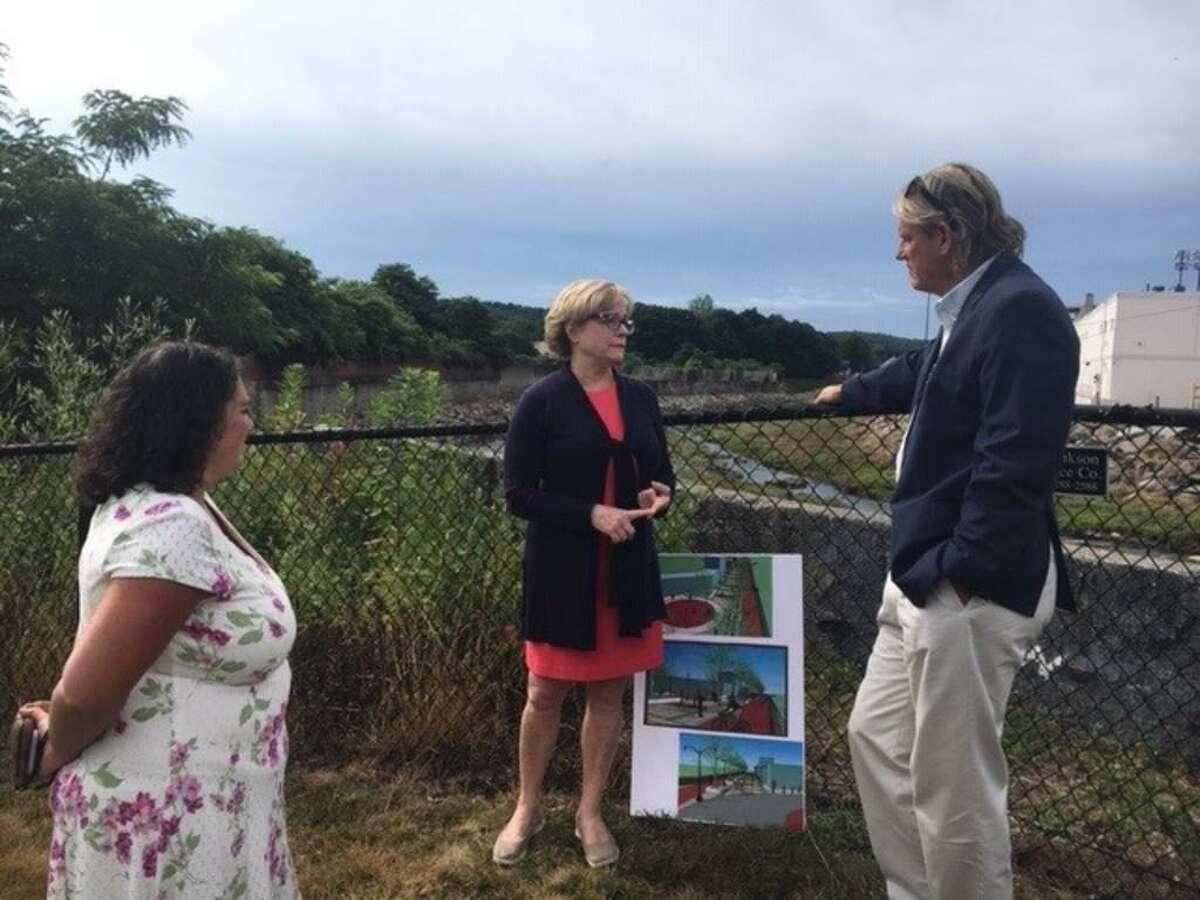 Torrington Economic Development Director Rista Malanca, Mayor Elinor Carbone, state Sen. Kevin Witkos touredthe city's Opportunity Zone.