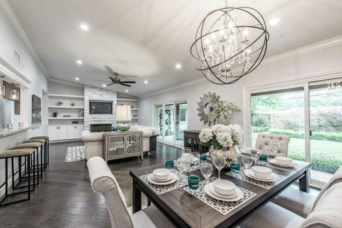 This home on Cliffwood was remodeled in a popular gray-white palette after being flooded in Hurricane Harvey. It's in the Meyerland/Bellaire market, where many homeowners or investors are renting their homes because they haven't been able to sell them.