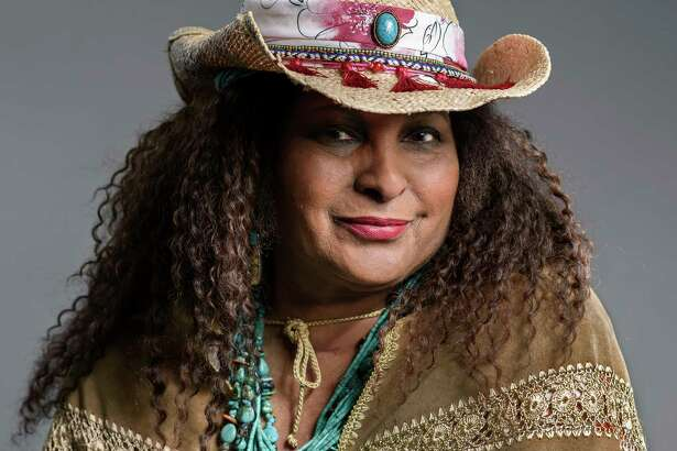 This May 21, 2019 photo shows actress Pam Grier posing in New York to promote her ABC sitcom a€œBless This Mess.a€ (Photo by Christopher Smith/Invision/AP)