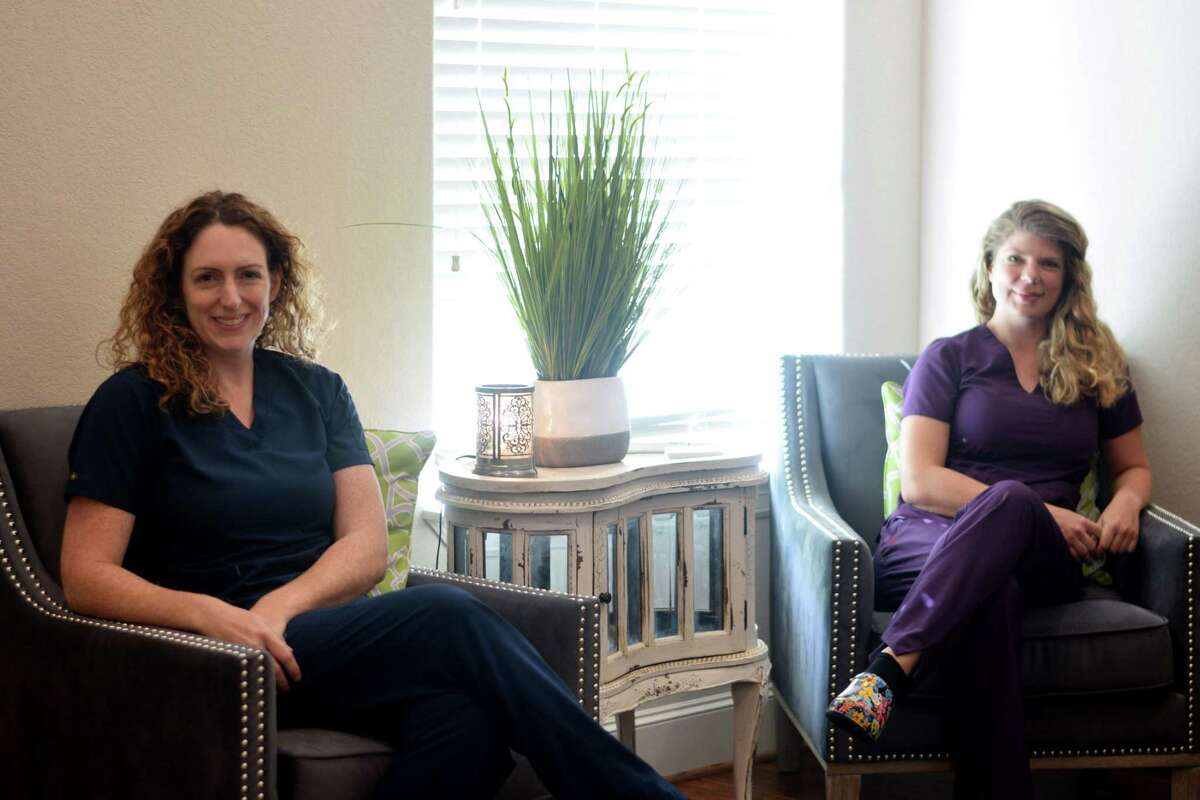 Cindy Van Praag (left) and Tessa Benson are cofounders and operators of Spring Center of Hope, where patients can receive ketamine infusion therapy.