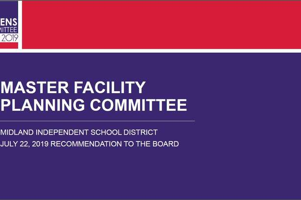 The Midland ISD Master Facilities Planning Committee presented their finalized $569 million bond recommendation Monday.