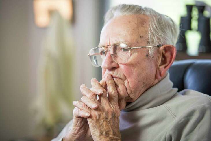 Chris Kraft, NASA's first manned space flight director, and the man for whom Mission Control at Johnson Space Center is named, pauses during an interview at his home on Thursday, May 15, 2014, in Houston. ( Smiley N. Pool / Houston Chronicle )