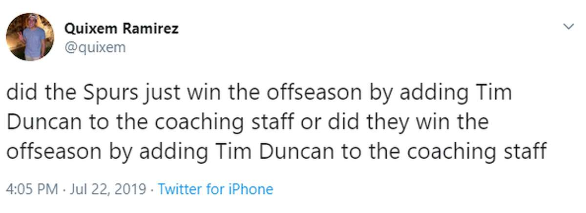 @quixem: did the Spurs just win the offseason by adding Tim Duncan to the coaching staff or did they win the offseason by adding Tim Duncan to the coaching staff