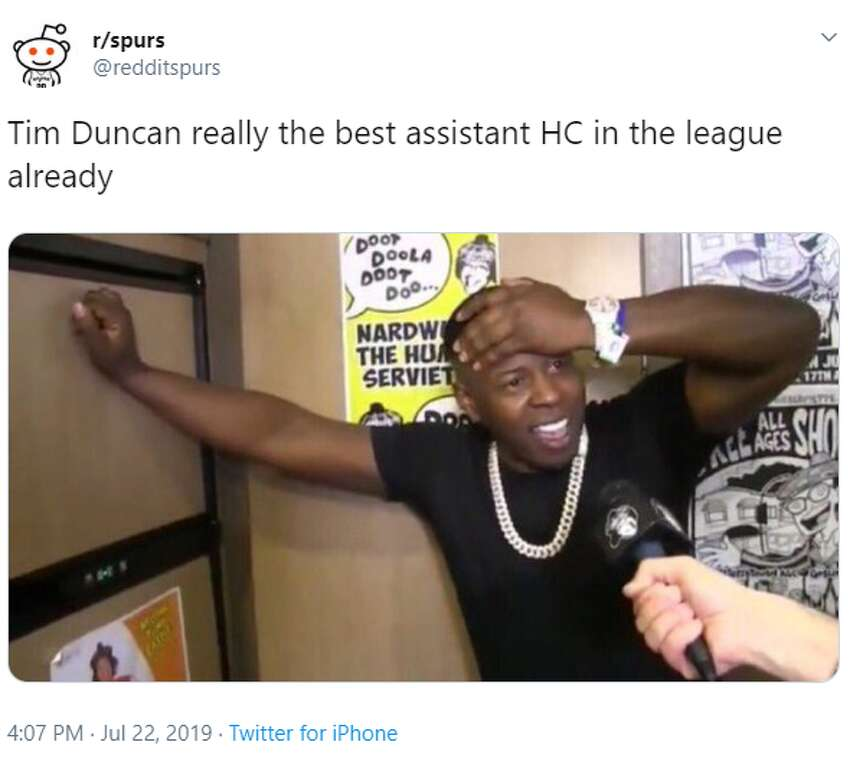 @redditspurs: Tim Duncan really the best assistant HC in the league already