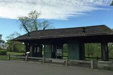 A toll plaza removed from the Merritt Parkway now stands at the Boothe Memorial Park and Museum in Stratford, Conn.
