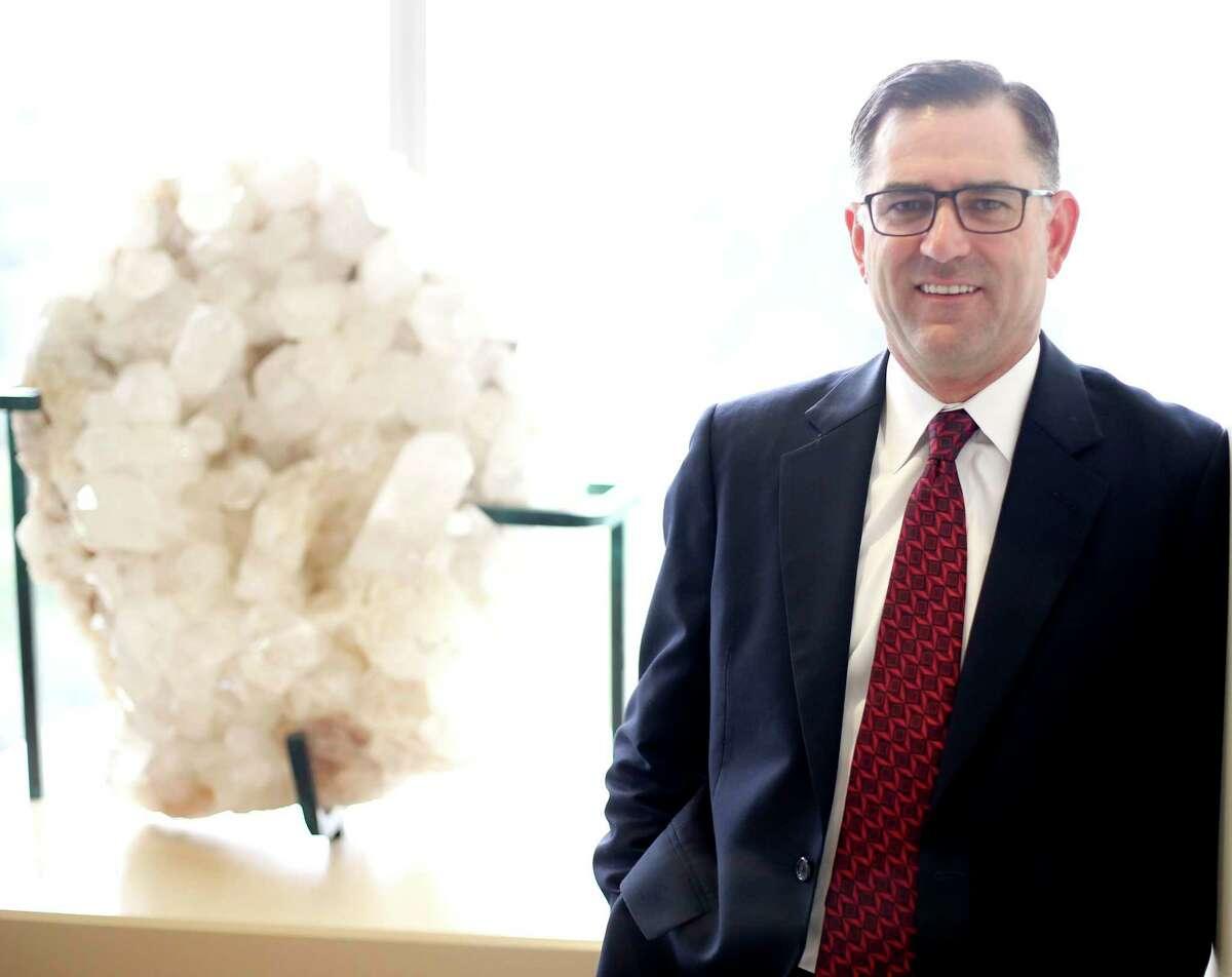 Halliburton's CEO Jeff Miller on the Houston campus.