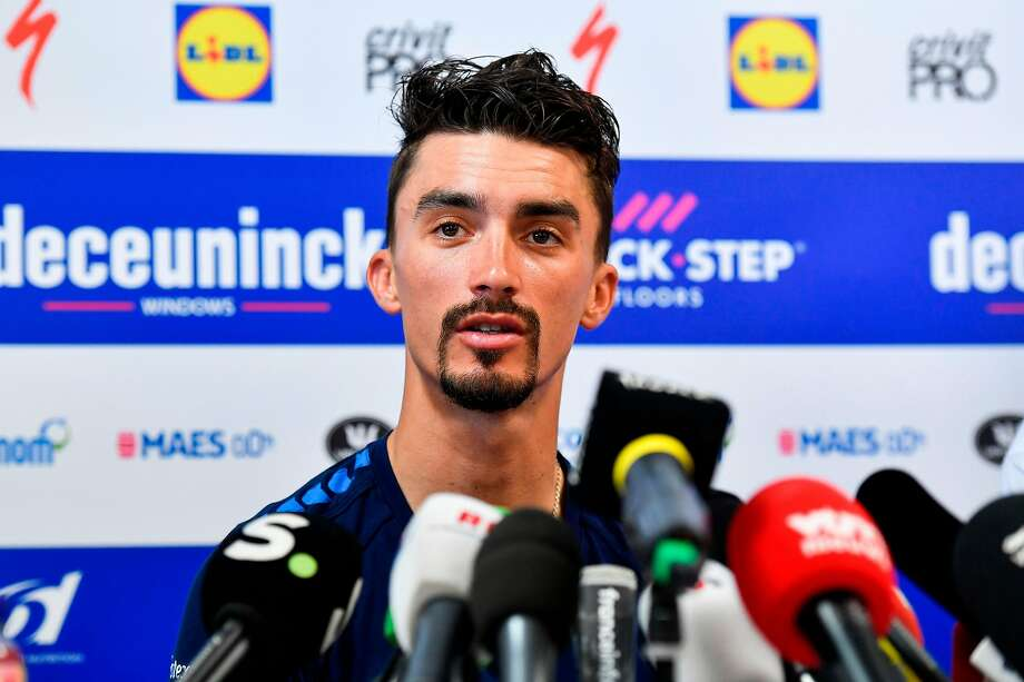 Tour de France leader Julian Alaphilippe will try to get back on track Tuesday after struggling Sunday. Photo: Gerard Julien / AFP / Getty Images
