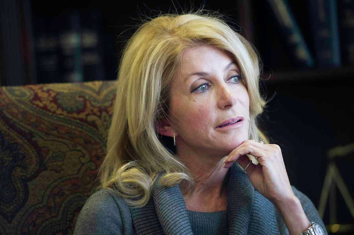Texas State Senator Wendy Davis speaks to the San Antonio Express News about her unsuccessful bid for governor in this year's gubernatorial election and what she plans to do moving forward on Monday, December 29, 2014 in Austin, Texas.