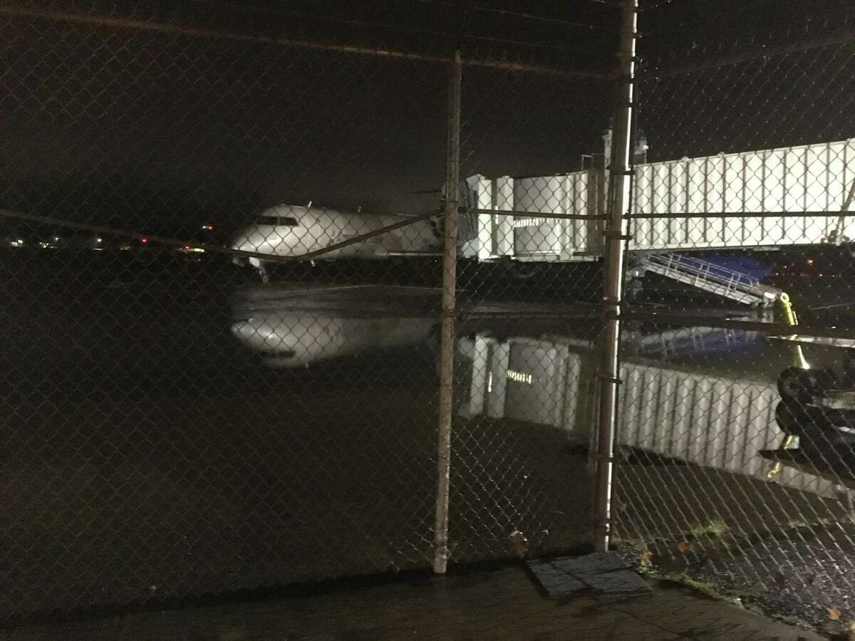 Heavy rains on Monday, July 23, 2019 caused several inches of flooding inside the terminal and on the tarmac at Tweed New Haven Regional Airport.The airport was temporarily closed while crews worked to clean it up,