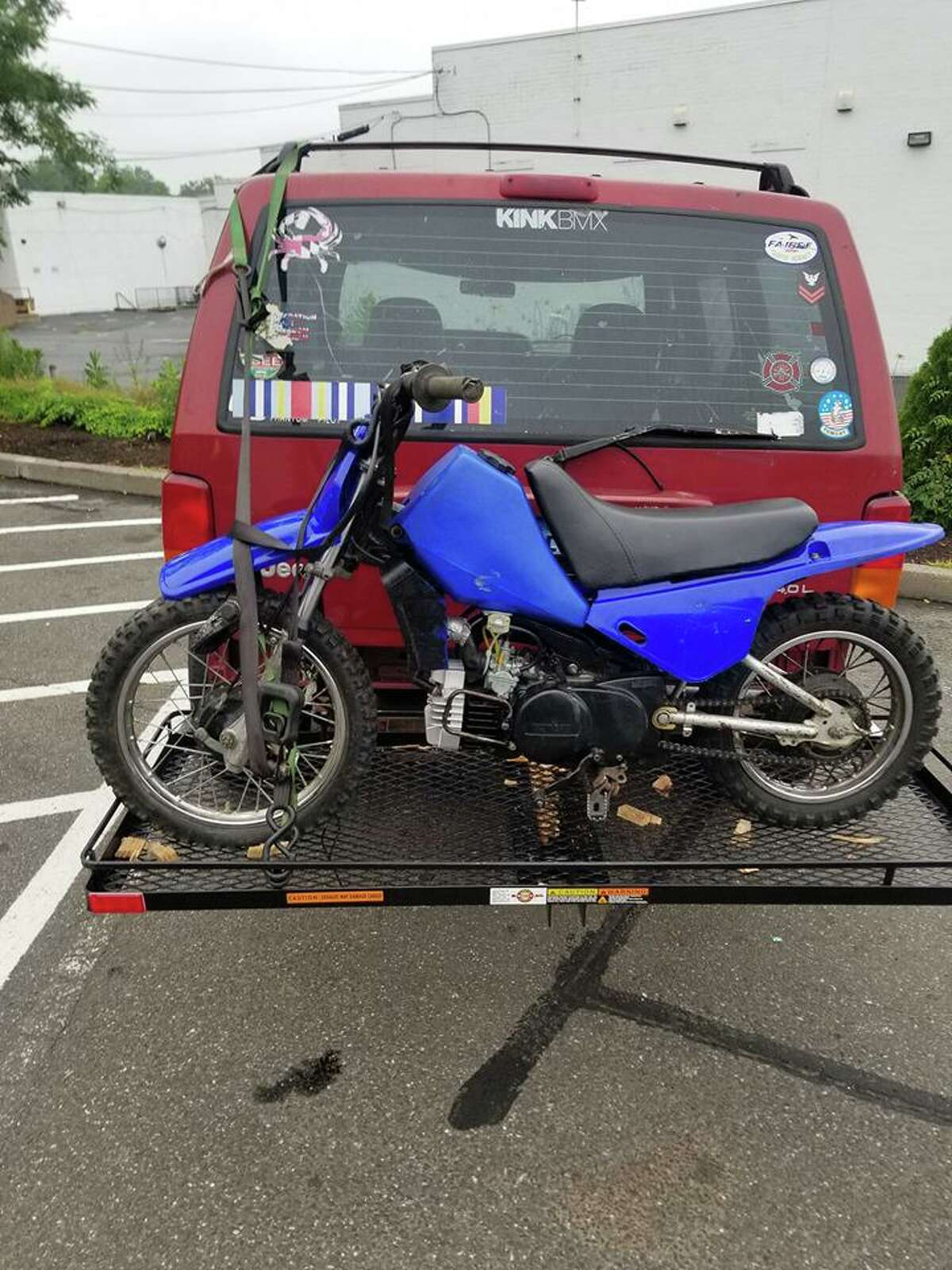 Among the items stolen was a Yamaha PW-80 dirt bike with serial number JYA21W007FA111863.