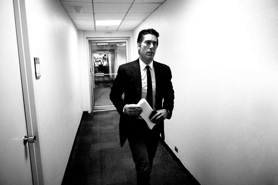 David Muir walks through the halls at ABC News studios in New York on June 24. Photo: Photo For The Washington Post By Rick Wenner / For The Washington Post