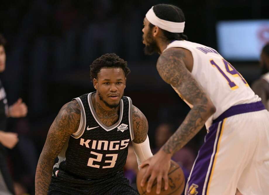 PHOTOS: Things to know about Russell Westbrook LOS ANGELES, CA - DECEMBER 30: Ben McLemore #23 of the Sacramento Kings guards Brandon Ingram #14 of the Los Angeles Lakers at Staples Center on December 30, 2018 in Los Angeles, California. Lakers won 121-114. (Photo by John McCoy/Getty Images) >>>See everything you need to know about Russell Westbrook ... Photo: John McCoy/Getty Images