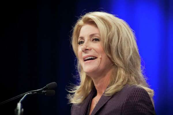 FILE -- Wendy Davis speaks at the Texas Democratic State Convention in Dallas, June 27, 2014. Davis, a former Democratic nominee for governor of Texas whose marathon filibuster as a state senator turned her into an overnight political star, said July 22, 2019, that she would run for a House seat held by a freshman Republican. (Michael Stravato/The New York Times)