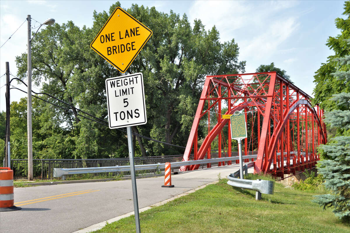 The historic Currie Parkway Bridge, which crosses the Tittabawassee River in Midland, is closed until further notice, according to a statement on Friday from the City of Midland. (Daily News file photo)