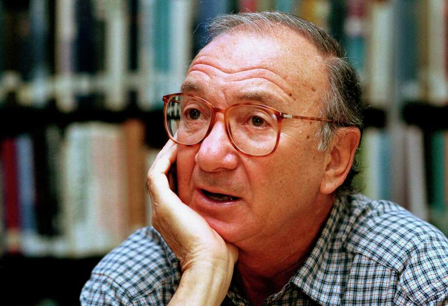 "FILE- In this Sept. 22, 1994, file photo, american playwright Neil Simon answers questions during an interview in Seattle, Wash. Simon, a master of comedy whose laugh-filled hits such as ""The Odd Couple,"" ""Barefoot in the Park"" and his ""Brighton Beach"" trilogy dominated Broadway for decades, died on Sunday, Aug. 26, 2018. He was 91. (AP Photo/Gary Stuart, File) Photo: Gary Stuart / Associated Press / AP1994"