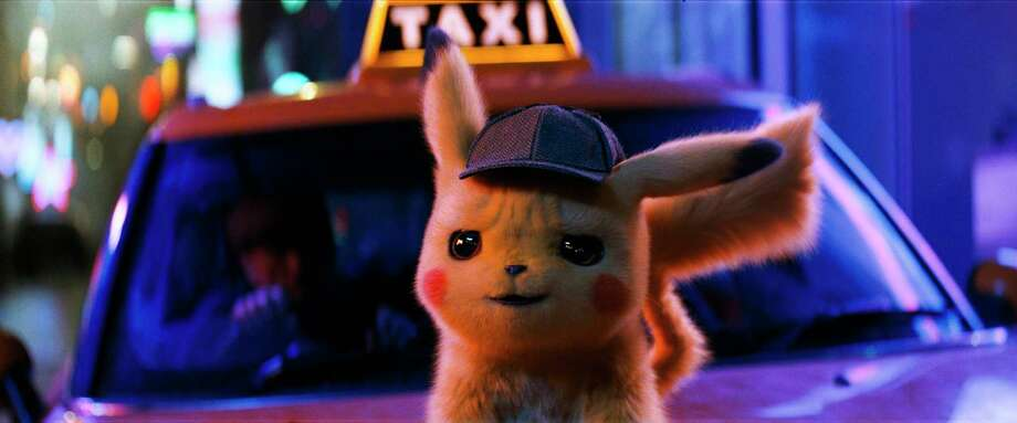 Pikachu is voiced by Ryan Reynolds. Photo: Warner Bros. Pictures / © 2018 Warner Bros. Entertainment Inc. All Rights Reserved.
