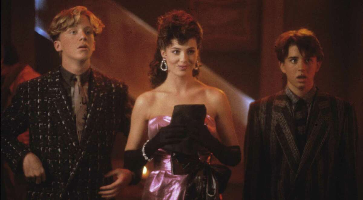 Anthony Michael Hall (from left), Kelly LeBrock and Ilan Mitchell-Smith star in