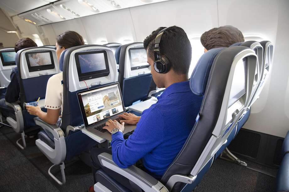 Inflight wi-fi is slowly getting better, and might even be free one day Photo: United Airlines