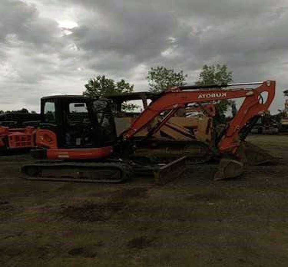 Police are asking the public to help them in the search for an excavator stolen Monday from the Bridgeport Innovation Center. Photo: Courtesy Of The Bridgeport Police Department