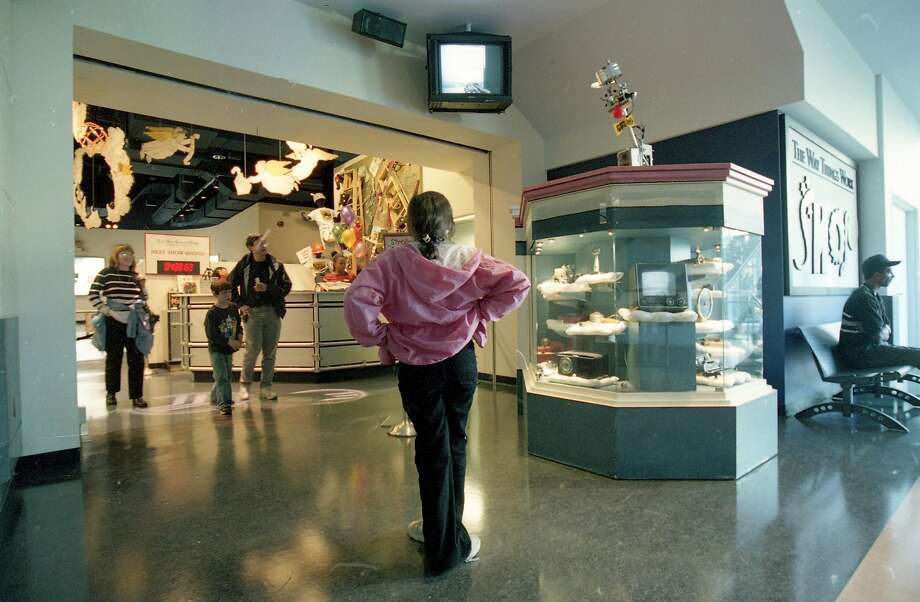 June 12, 2000: The entrance to the family-friendly The Way Things Work station at the Sony Metreon. Photo: Thor Swift / The Chronicle 2000