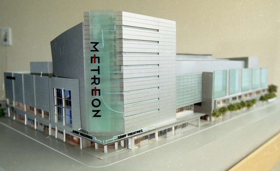 May 27, 1999: A model of the Sony Metreon in San Francisco is on display one month before the retail and entertainment center opened to the public. Photo: Eric Luse / The Chronicle 1999
