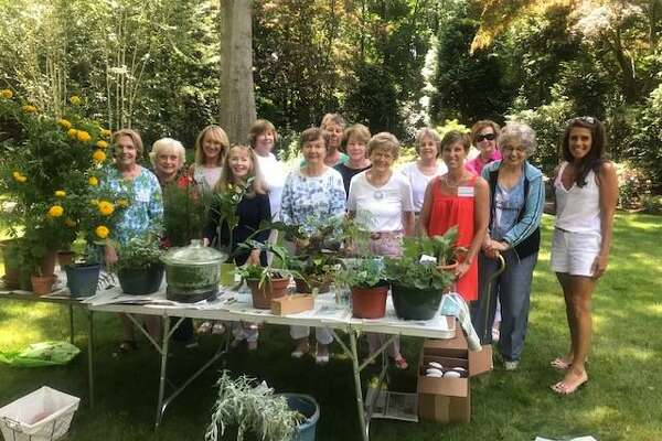 Members of the Garden Club at the Plant Swap
