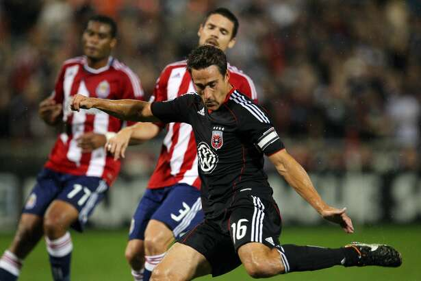 WASHINGTON, DC - SEPTEMBER 21: Josh Wolff #16 of D.C. United controls the ball against Chivas USA at RFK Stadium on September 21, 2011 in Washington, DC. The game ended in a 1-1 tie. (Photo by Ned Dishman/Getty Images)