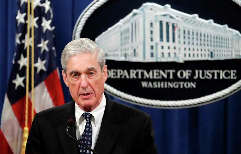 Special counsel Robert Mueller speaks at the Department of Justice in Washington about the Russia investigation. Photo: Carolyn Kaster / Associated Press / Copyright 2019 The Associated Press. All rights reserved.