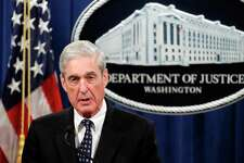 Special counsel Robert Mueller speaks at the Department of Justice in Washington about the Russia investigation.