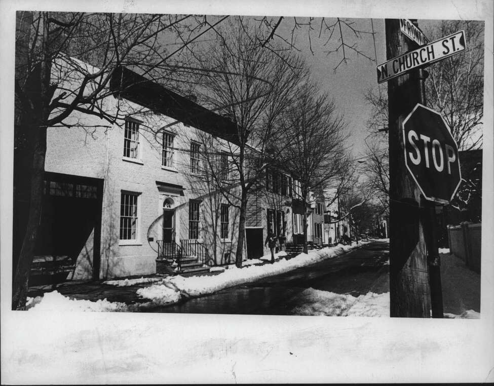 Click through the slideshow of the Schenectady Stockade from the Times Union archives. Front & North Church, Stockade, Schenectady, New York. March 21, 1977 (Times Union Archive)
