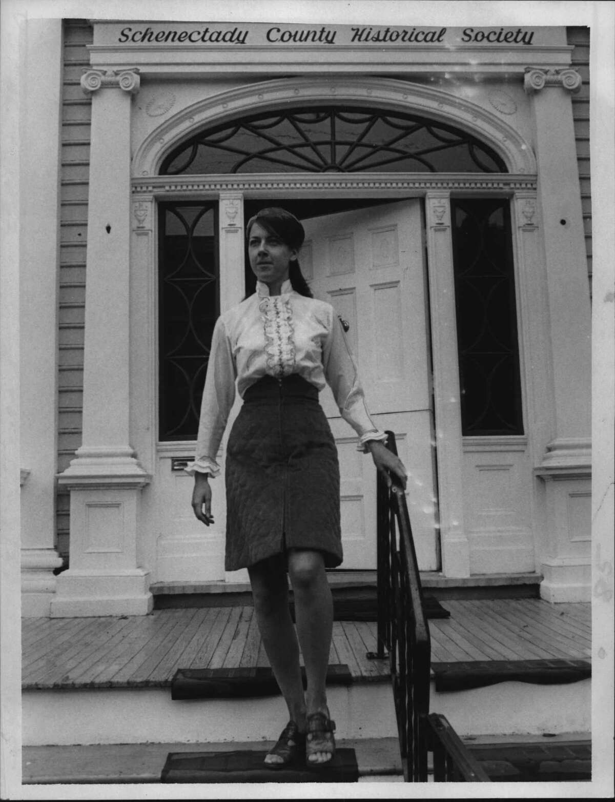 Mary E. Antoine, Schenectady County Historical Society, New York. September 28, 1971 (Paul D. Kniskern, Sr./Times Union Archive)