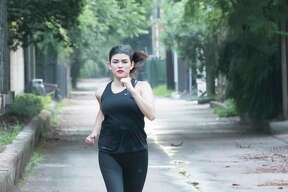 Vanessa Ochoa runs in the Museum District. Women who run alone need to consider safety.
