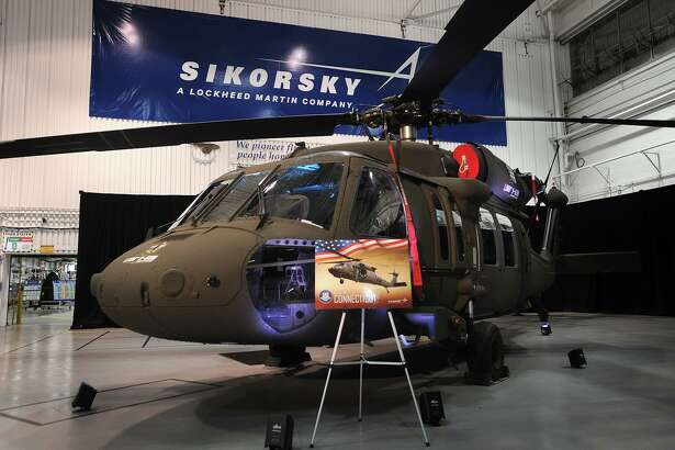 The one thousandth H-60M Black Hawk helicopter at the delivery ceremony at the Sikorsky plant in Stratford, Conn. on Thursday, October 13, 2016.