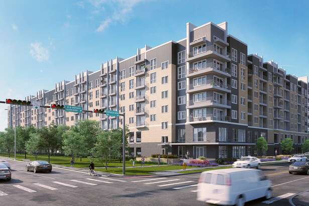 Rendering of the seven-story Alta River Oaks, a luxury apartment complex expected to open in 2020.