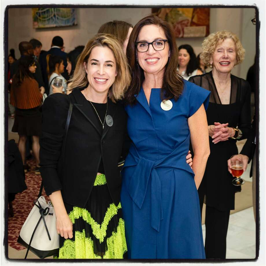 Enterprise board member Alison Pincus (left) with Enterprise CEO Ninive Calegari at the free fete. July 11, 2019. Photo: Drew Altizer / Drew Altizer Photography