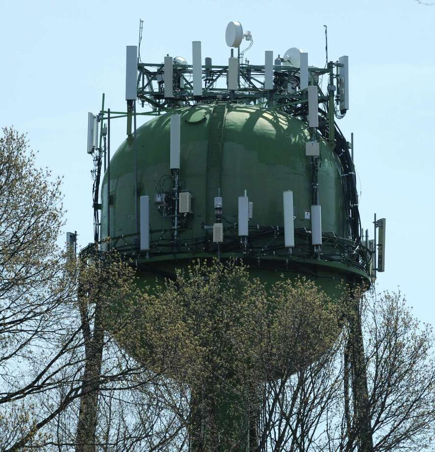 The First Taxing District Water Department water tower off of West Rocks Road Wednesday, May 2, 2018, in Norwalk, Conn. The First Taxing District Water Department is addressing low levels of PFAS found in its well water. Photo: Erik Trautmann / Hearst Connecticut Media / Norwalk Hour