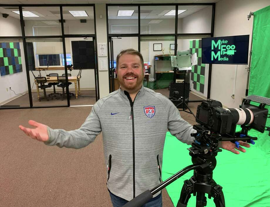 Myke Furhman recently opened Myke Foo Media, a full-service video, photography and recording studio on Main Street in New Milford. Photo: Courtesy Of Myke Foo Media / The News-Times Contributed