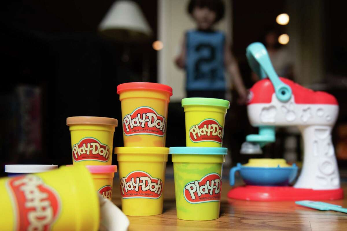 Hasbro Inc. Play-Doh brand modeling compound is arranged for a photograph in Atlanta, Georgia U.S., on Saturday, July 20, 2019. Hasbro Inc. is scheduled to release earnings figures on July 23. Photographer: Tiffany Hagler-Geard/Bloomberg
