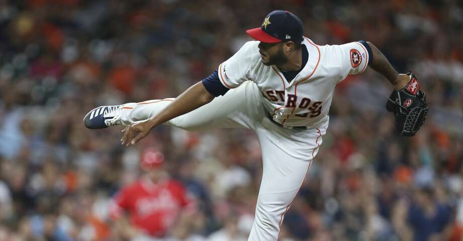 PHOTOS: Astros game-by-game Houston Astros starting pitcher Josh James (39) pitches during the top ninth inning of the MLB game against the Los Angeles Angels at Minute Maid Park on Friday, July 5, 2019, in Houston. Browse through the photos to see how the Astros have fared in each game this season. Photo: Yi-Chin Lee/Staff Photographer