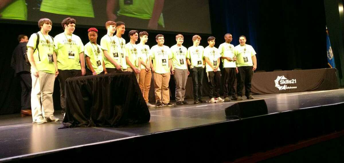 Wolcott Tech School engineering students participated at the Toyota Oakdale Theater in Wallingford in the Skills21 Connecticut state wide engineering competition in June.