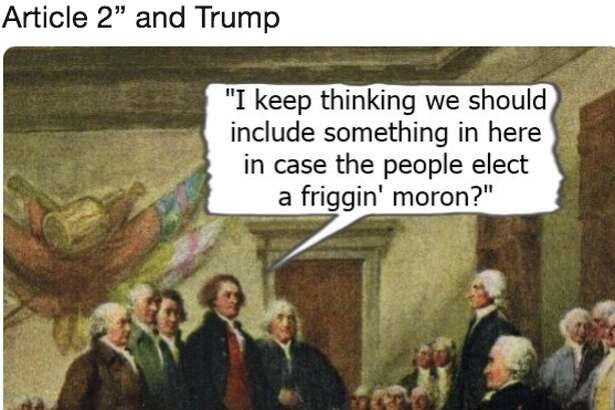 Social media users react to President Donald Trump's false claims about Article II of the U.S. Constitution.