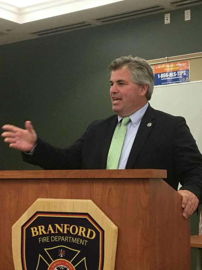 The Branford Republican Town Committee unanimously endorsed First Selectman Jamie Cosgrove for a fourth two-year term in a caucus on Monday night, July 22, 2019. Photo: Mark Zaretsky / Hearst Connecticut Media