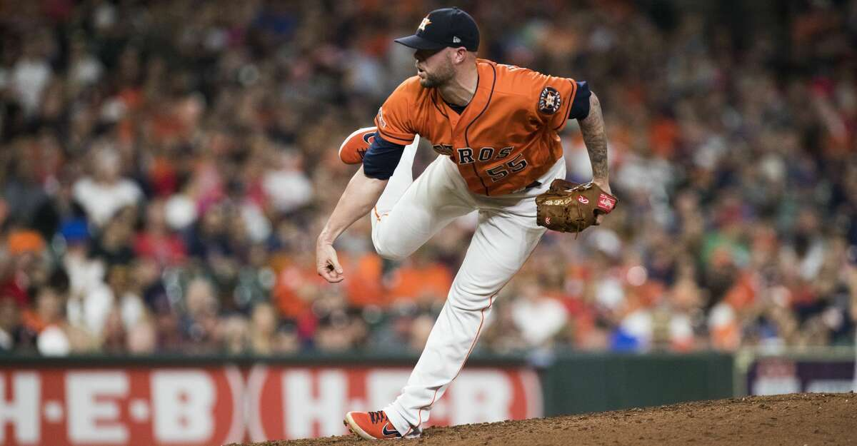 PHOTOS:Astros nicknames on their 2019 Players' Weekend jerseys Houston Astros relief pitcher Ryan Pressly (55) pitches during the eighth inning against the Boston Red Sox on Friday, May 24, 2019, in Houston. >>>See the nicknames for each Houston Astros player on the back of their jerseys for Players' Weekend on Aug. 23-25, 2019 ...
