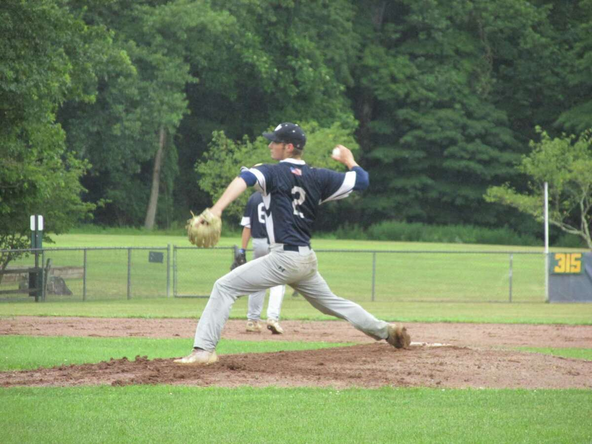 Washington starter Zach Prahach battled back from a rocky first inning on the way to Washington's walk-off win over Greenwich in the American Legion State Tournament third round Tuesday evening at Ted Alex Field.