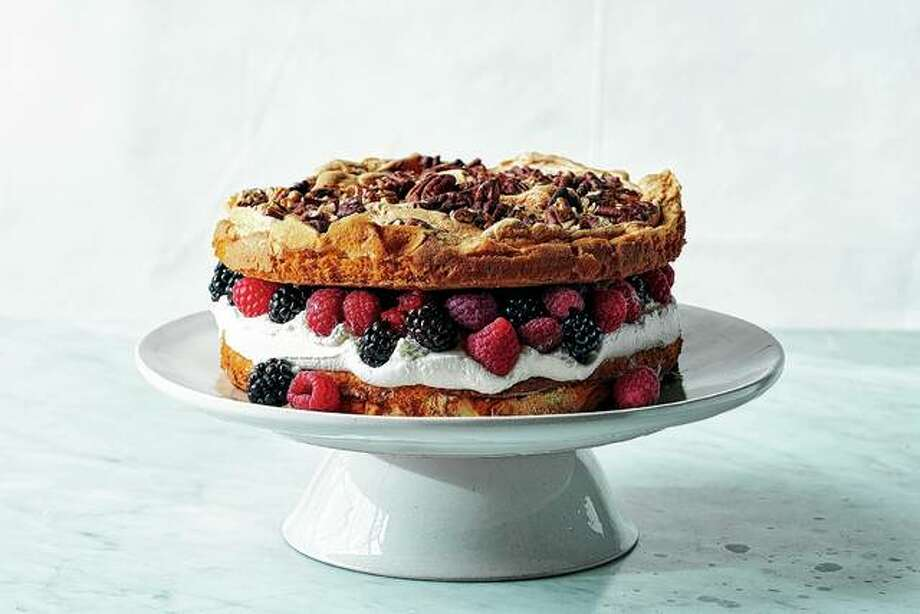 This layered berry blitz torte is surprisingly quick to assemble. This type of torte is a bit like strawberry shortcake — the kind made with cake rather than biscuits. Photo: David Malosh | The New York Times