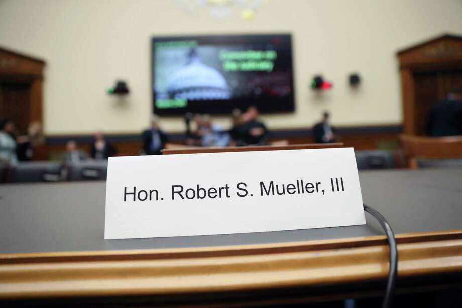 Former special counsel Robert Mueller, accompanied by his top aide in the investigation Aaron Zebley, will testify before the House Judiciary Committee hearing on his report on Russian election interference, on Capitol Hill, in Washington, Wednesday, July 24, 2019. Photo: Andrew Harnik, AP / Copyright 2019 The Associated Press. All rights reserved