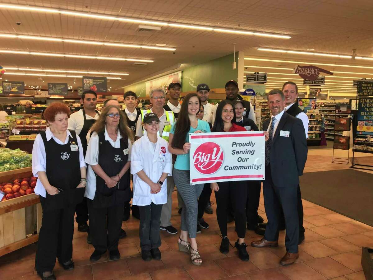 The staff of Big Y on Hawley Lane recently gave a $5,000 donation to the Connecticut Fallen Heroes Foundation. Volunteers Cara Ann Cama, left, and Rachel Mastroni, right. along with Store Director Joe Fetcho, far right, are pictured here with store employees. The Connecticut Fallen Heroes Foundation is a non-profit, all-volunteer, organization which is based in Trumbull. The group distributes portraits, sculptures and handmade quilts to the Gold Star families of Connecticut, Rhode Island, New York, Massachusetts, and Maryland. The foundation was founded following the 2005 death of PFC Cheyenne Seymour of Trumbull. It all started in 2005 with the tragic death of 18 year old soldier, PFC Cheyenne M. Seymour of Trumbull.