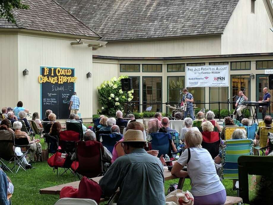 The Fairfield Museum is hosting its summer concert series, Jazz Fridays, through August. The series opens August 2 with Open Field Runner, featuring bassist Brian Torff, followed on August 9 by the Jim Clark Quartet; August 16 by Nicole Pasternak Trio; August 23 by Jen Durkin and her jazz ensemble; and August 30 by the Chris Coogan Quartet. Photo: Fairfield Museum / Contributed Photo